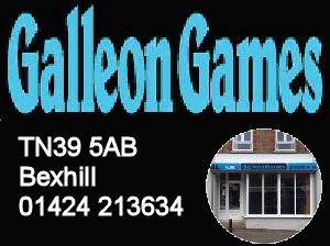 Galleon Games - the place for games and modellers 01424 213634
